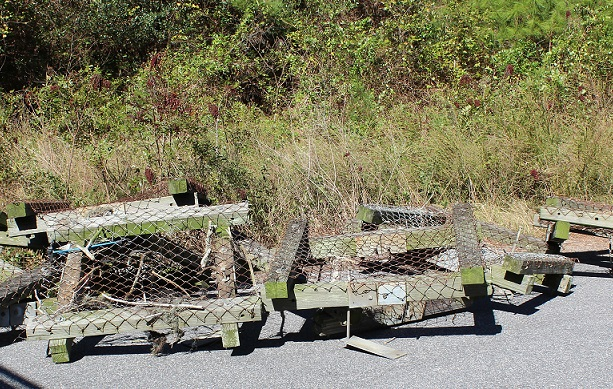 old nesting platforms - wildlife protection for utiltiies