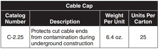 Cable Cap