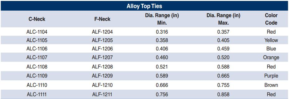 Alloy Top Ties